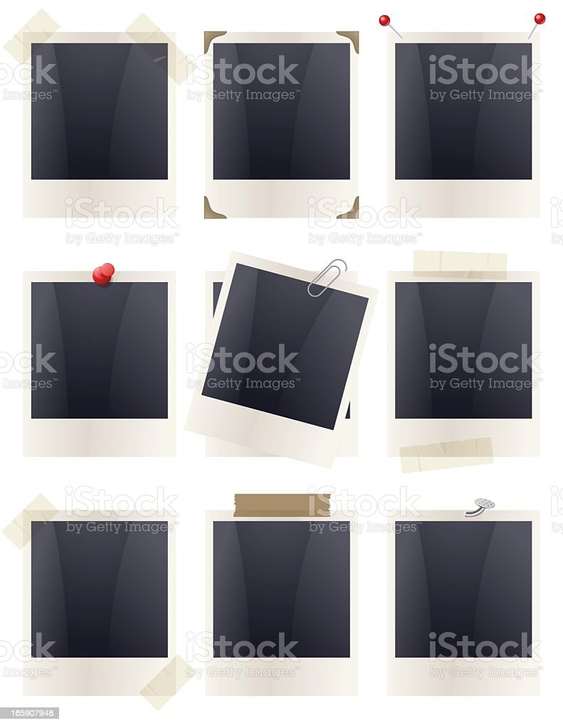 Polaroid Frames - Fixed vector art illustration