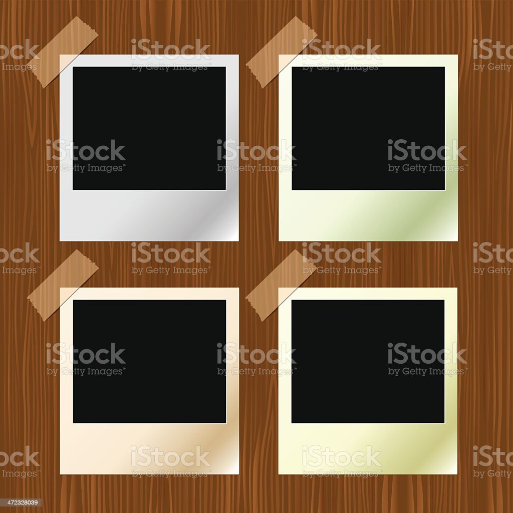 Polaroid Frames royalty-free stock vector art
