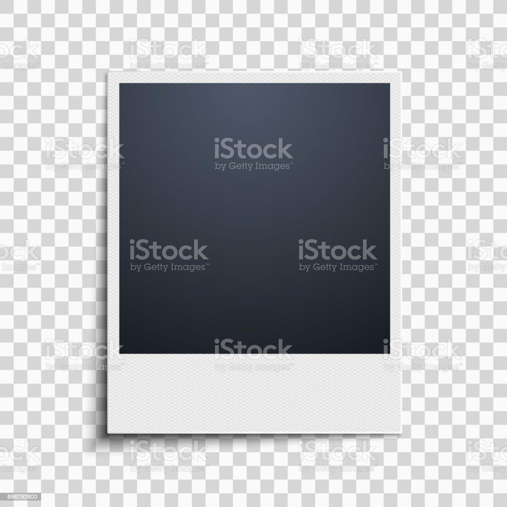 Ilustración de Polaroid En Un Fondo Transparente Marco De Fotos ...