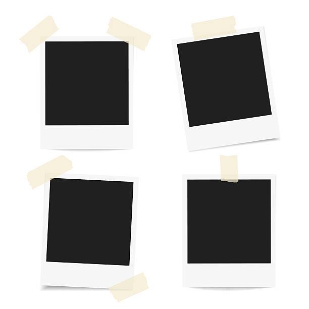 ilustraciones, imágenes clip art, dibujos animados e iconos de stock de polaroid photo frames - bordes de marcos de fotografías