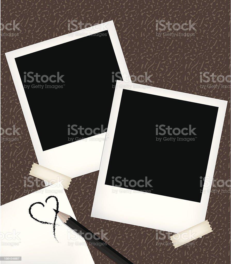 Ilustración de Polaroid Galería De Plantillas Con Bloc De Notas y ...
