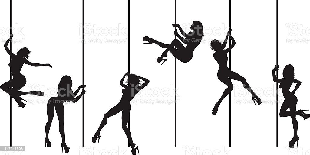 pole dance - tube dancers royalty-free pole dance tube dancers stock vector art & more images of adult