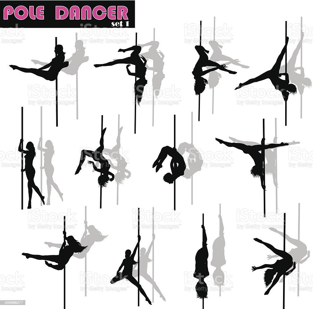 Download Pole Dancer Set Stock Illustration - Download Image Now ...