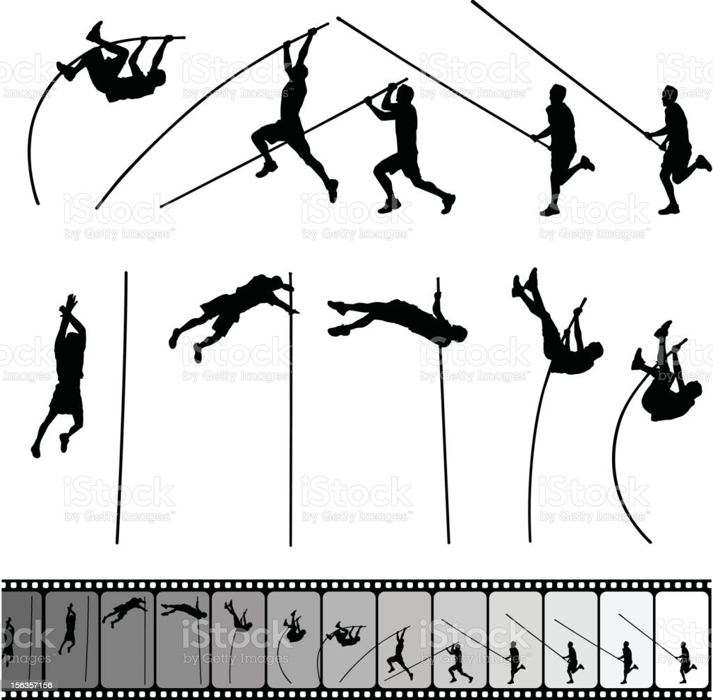 Pole Vault royalty-free stock vector art