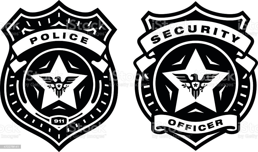 police and security badges stock vector art more images of badge rh istockphoto com police badge vector art free police badge clipart vector