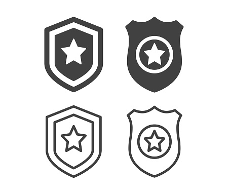 Police Badge - Illustration Icons