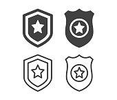 istock Police Badge - Illustration Icons 1264633427