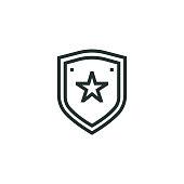 istock Police Badge Line Icon 1187678133