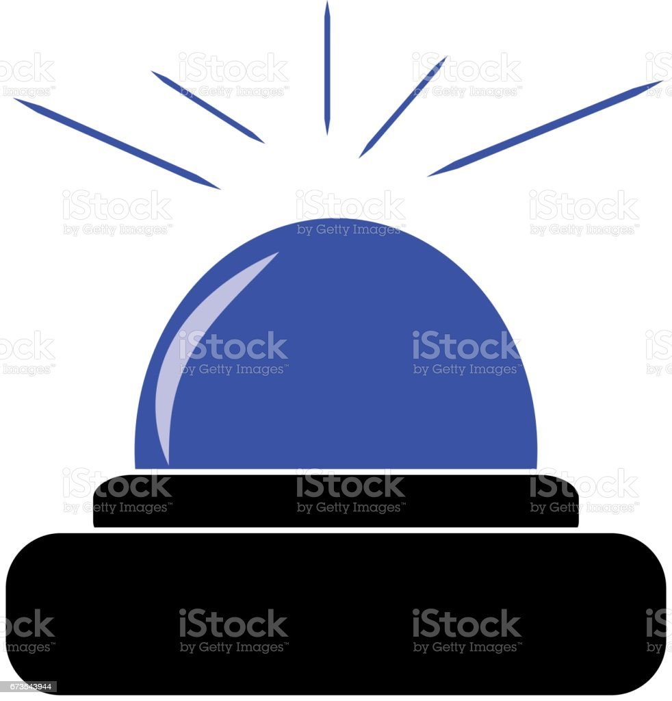Police beacon isolated on white background. Vector illustration. royalty-free police beacon isolated on white background vector illustration stock vector art & more images of accidents and disasters