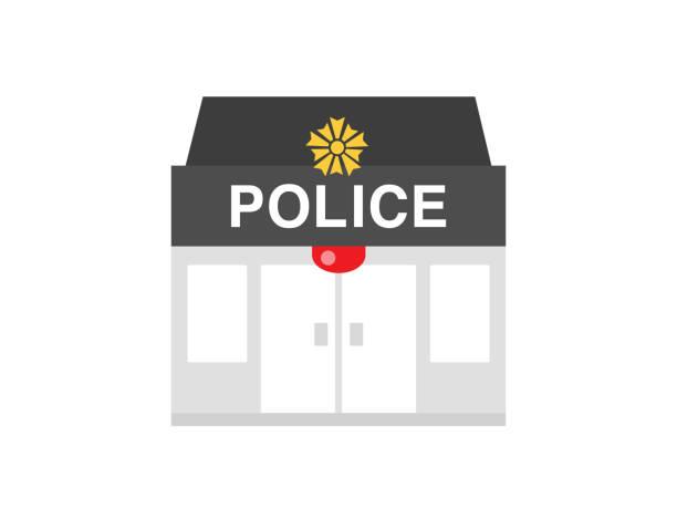 illustrations, cliparts, dessins animés et icônes de poste de police - commissariat