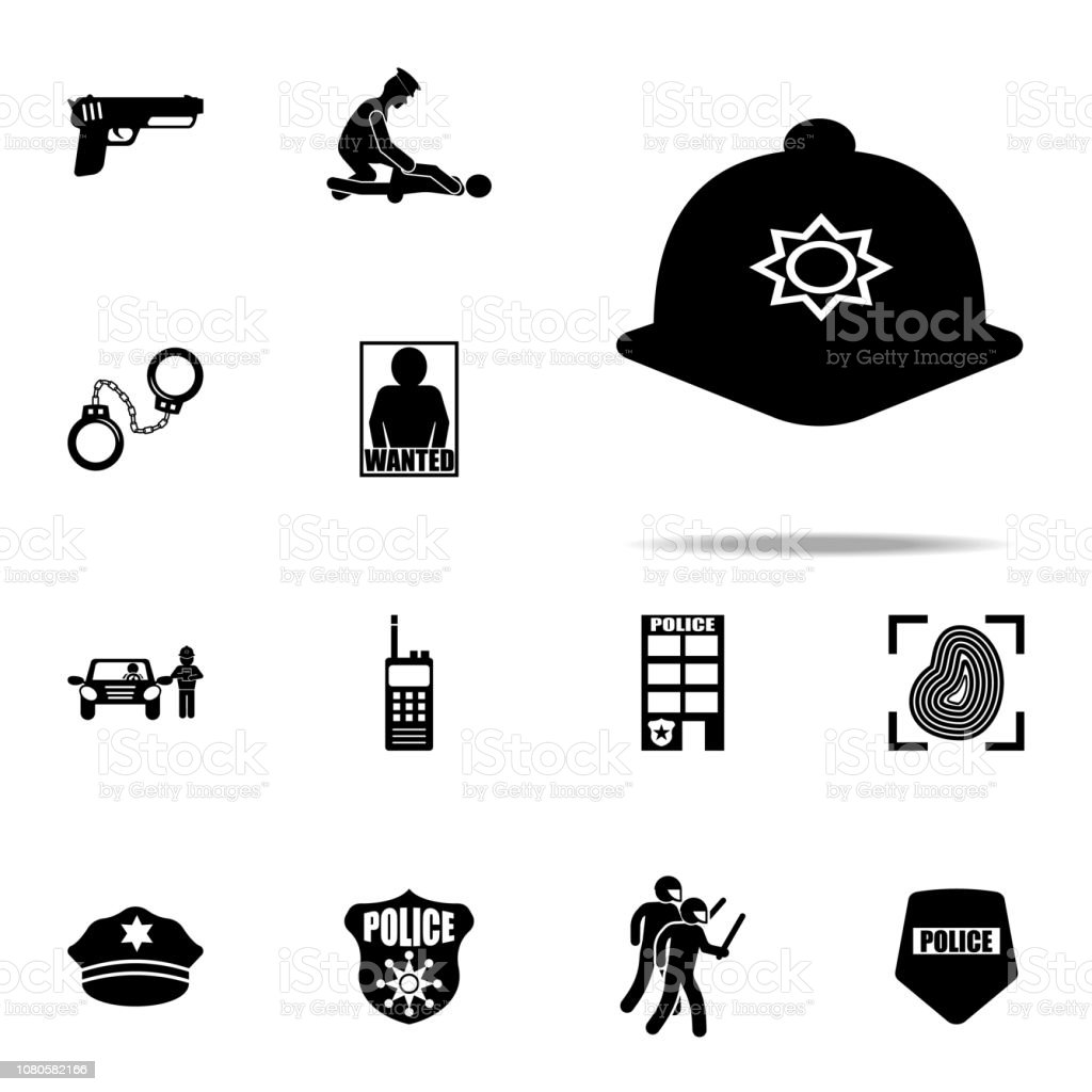 f5173b38081 Police Cap Icon Police Icons Universal Set For Web And Mobile Stock ...