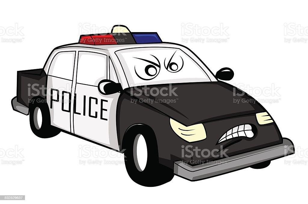 Voiture de police dessin anim stock vecteur libres de droits 532529837 istock - Voiture police dessin anime ...