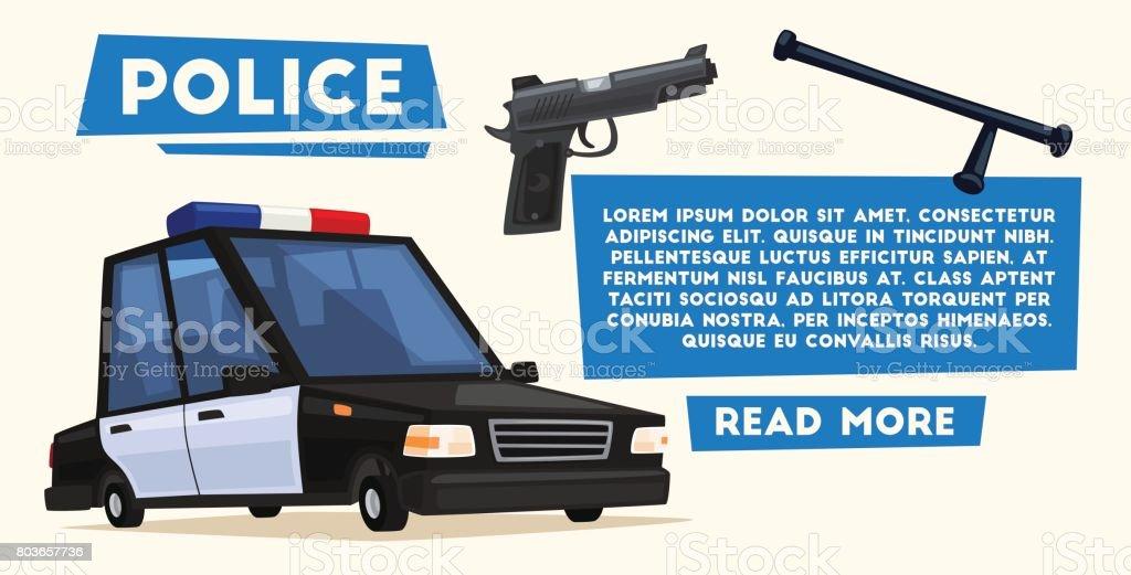 Ilustración de Coche De Policía Vector Ilustración De Dibujos ...