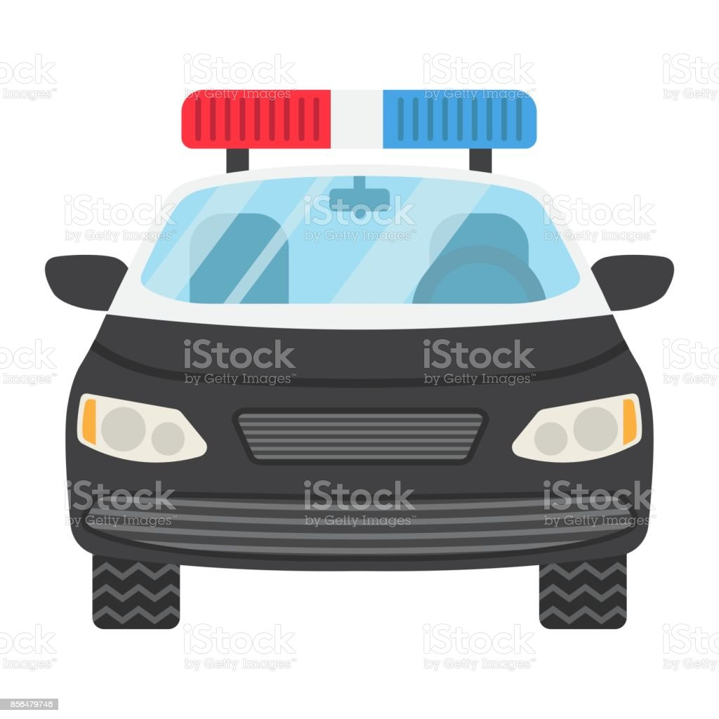 Police Car Flat Icon Transport And Automobile Cop Sign Vector - Best automobile graphics and patterns