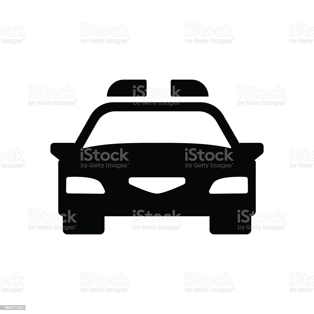 Police car icon. Vector illustration vector art illustration