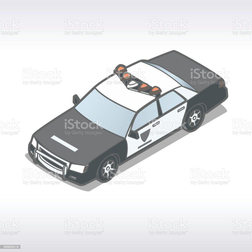 Police Car Illustration vector art illustration