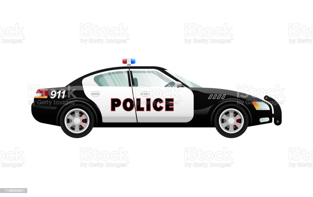 Voiture De Police Dans La Conception Simple De Dessin Anime Vehicule De Vitesse Vecteurs Libres De Droits Et Plus D Images Vectorielles De Assistance Istock