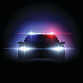 Police car lights effect in vector