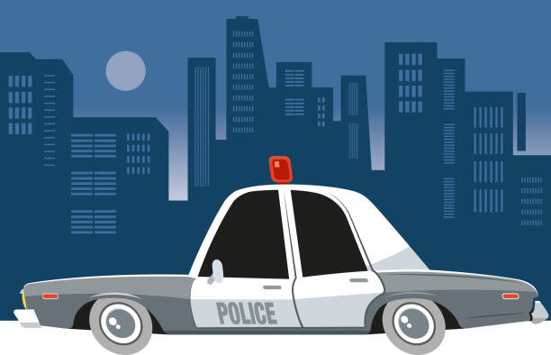 Police car patrol Worked by adobe illustrator... included illustrator 10.eps and 300 dpi jpeg files... easy editable vector... police car stock illustrations
