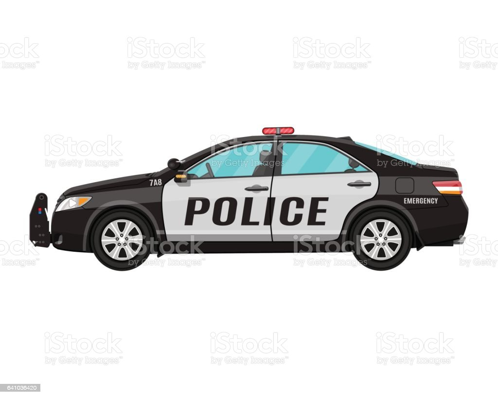 royalty free police car clip art vector images illustrations istock rh istockphoto com police car clipart free police car clipart images