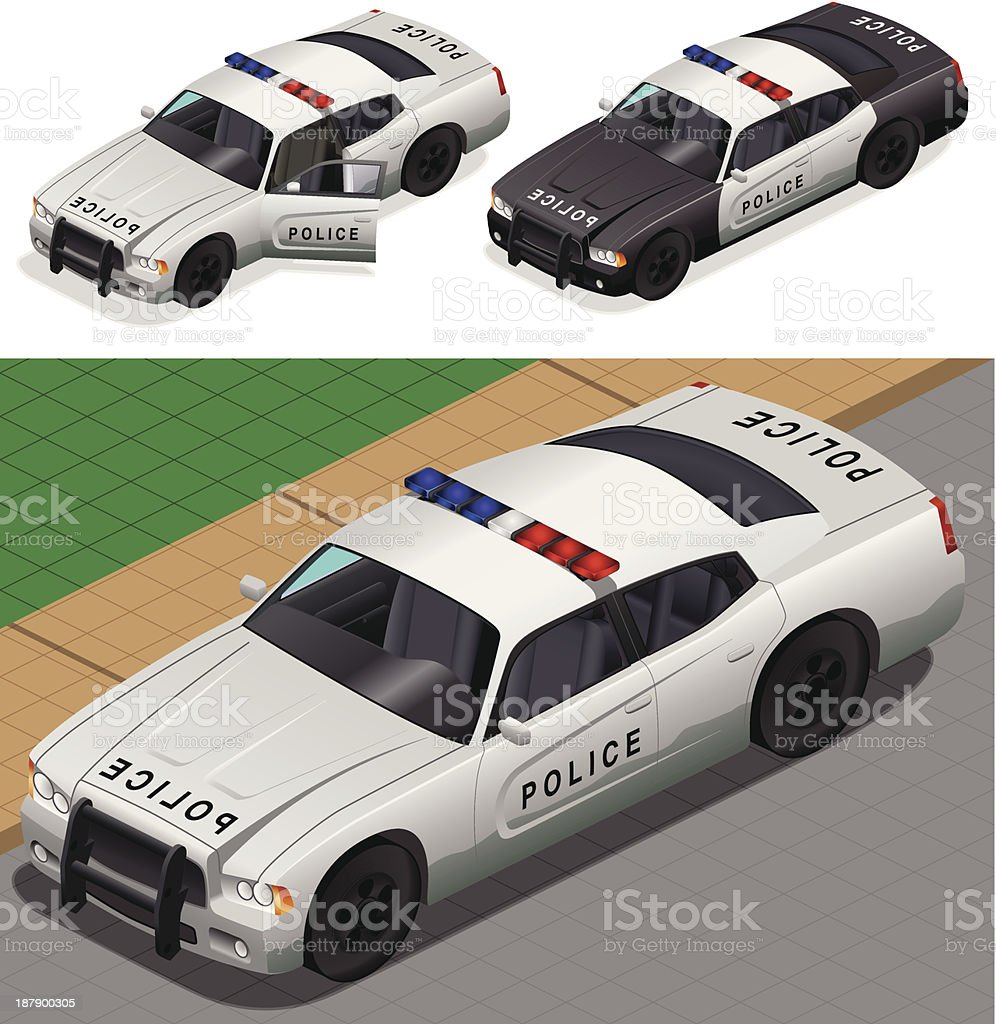 Police car royalty-free stock vector art