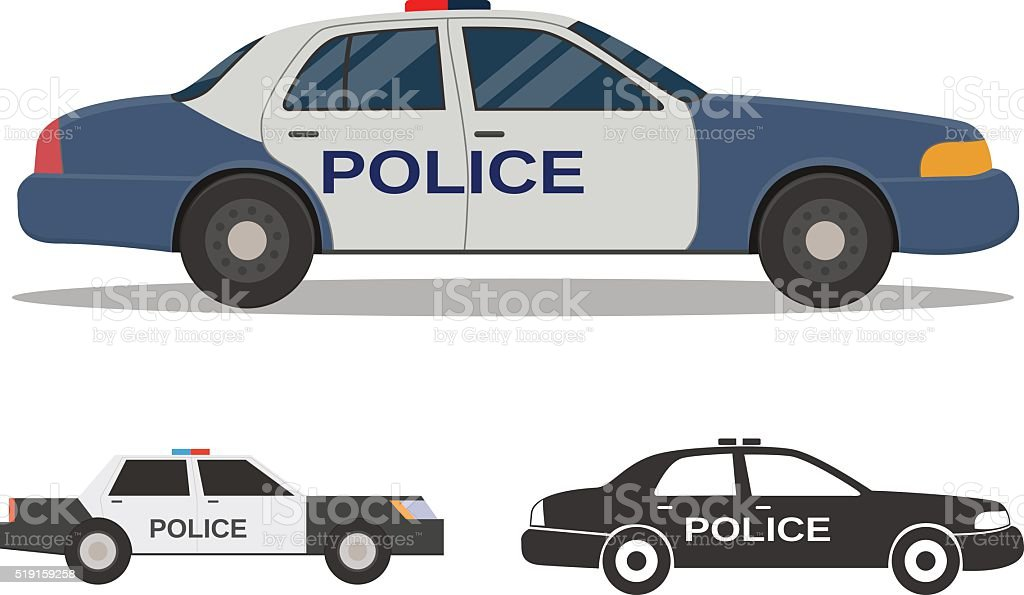 Police car vector art illustration
