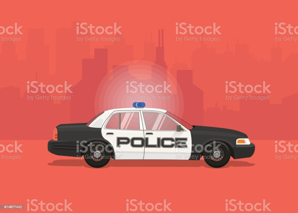 Police Car vector illustration. vector art illustration