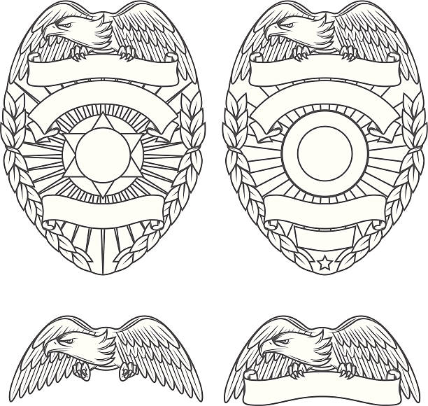 Insignes de Police department et éléments de design - Illustration vectorielle