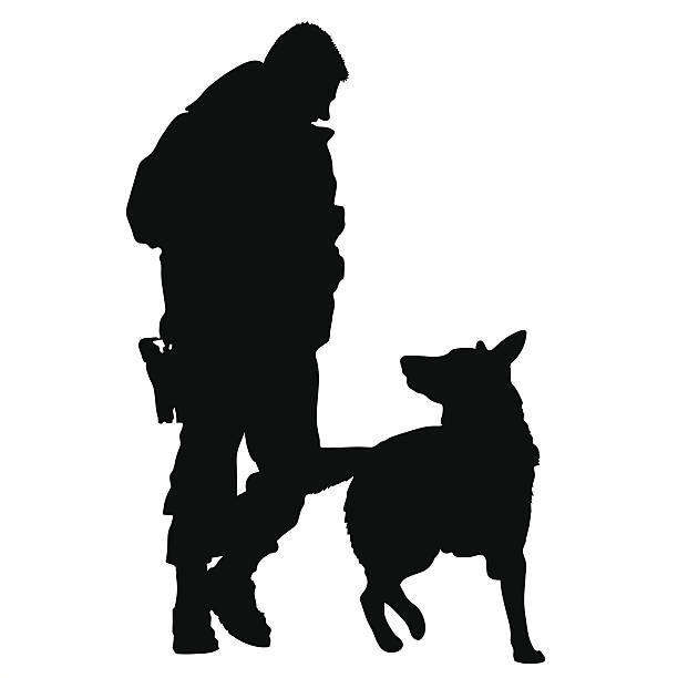 Best Military Dog Illustrations Royalty Free Vector