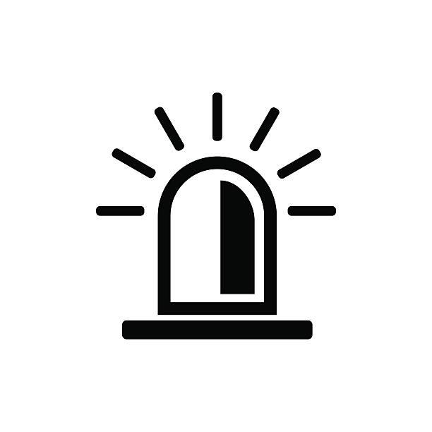 Police flasher icon. Vector illustration vector art illustration