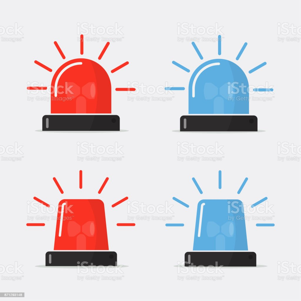 Police flasher, siren vector set vector art illustration