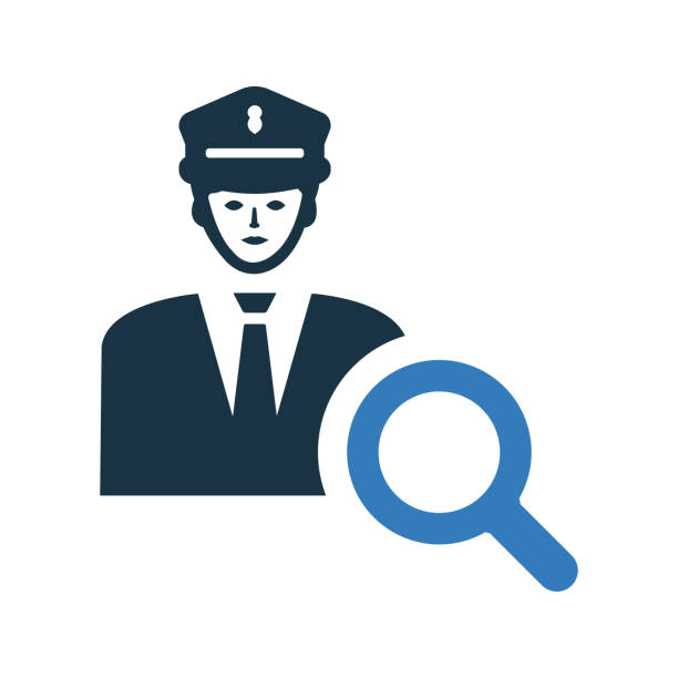 illustrations, cliparts, dessins animés et icônes de icône d'aide de la police / graphiques vectoriels - commissariat