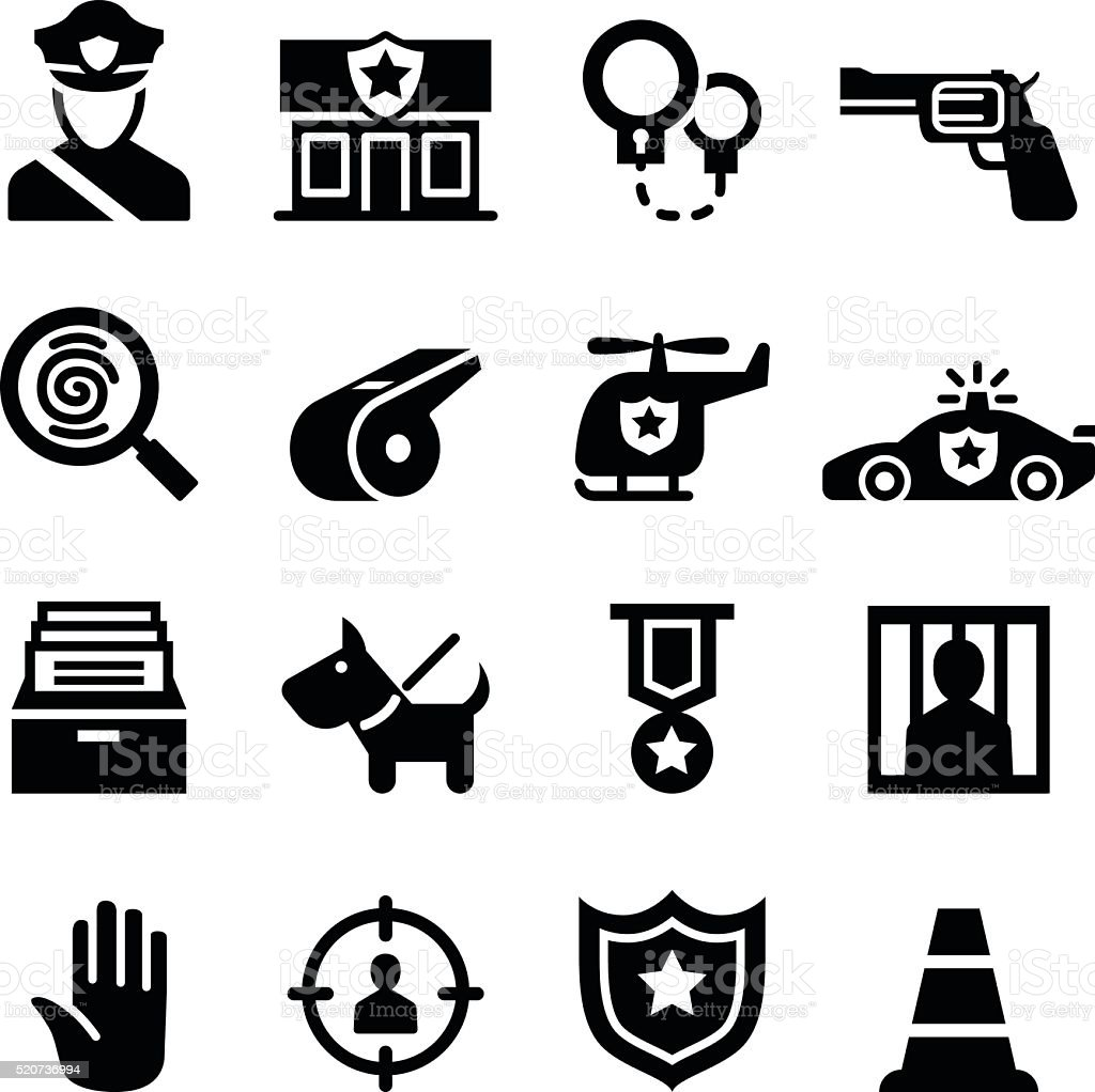 Police icon vector art illustration