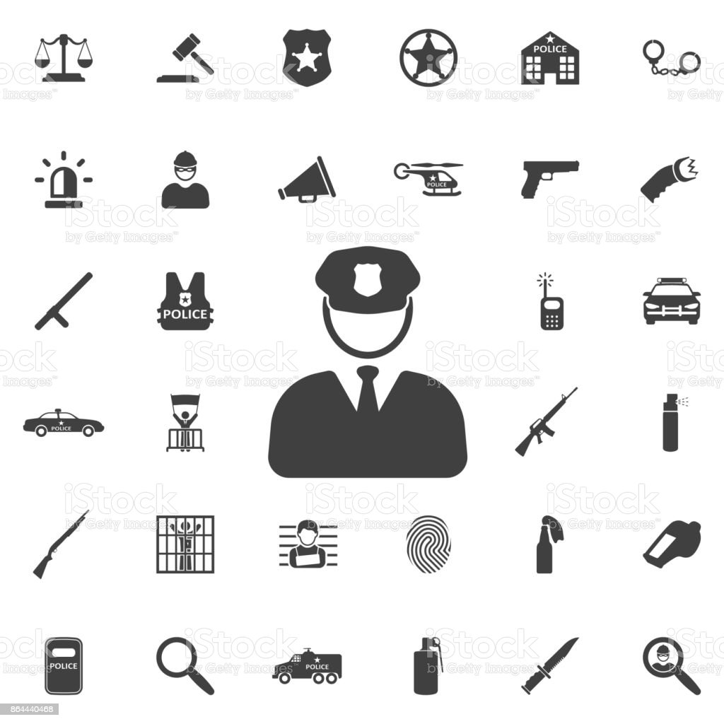 Vector Icon police - Illustration vectorielle