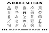 This is an Icon Set about Police,Law,Justice,weapons & law enforcement