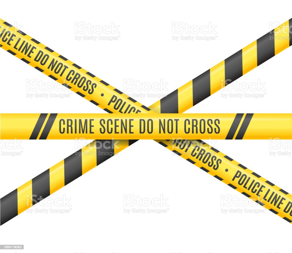 Police Line. Scene Crime Do Not Cross. Vector