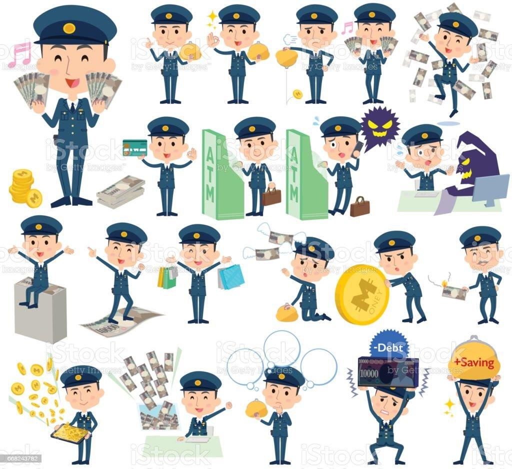 police man money police man money - immagini vettoriali stock e altre immagini di affari royalty-free