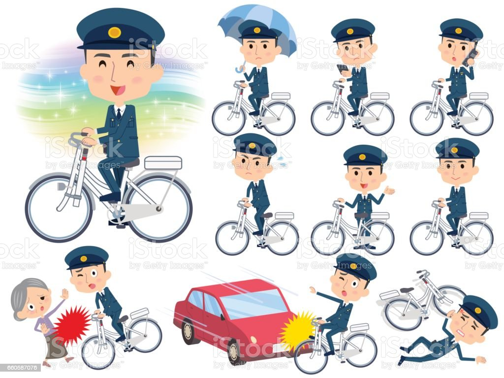 police men ride on city bicycle royalty-free police men ride on city bicycle stock vector art & more images of bicycle
