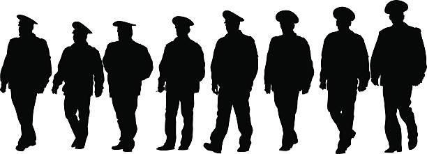 Polícia homens - ilustração de arte em vetor