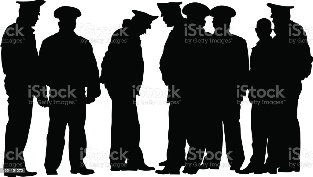 Police men - Illustration vectorielle