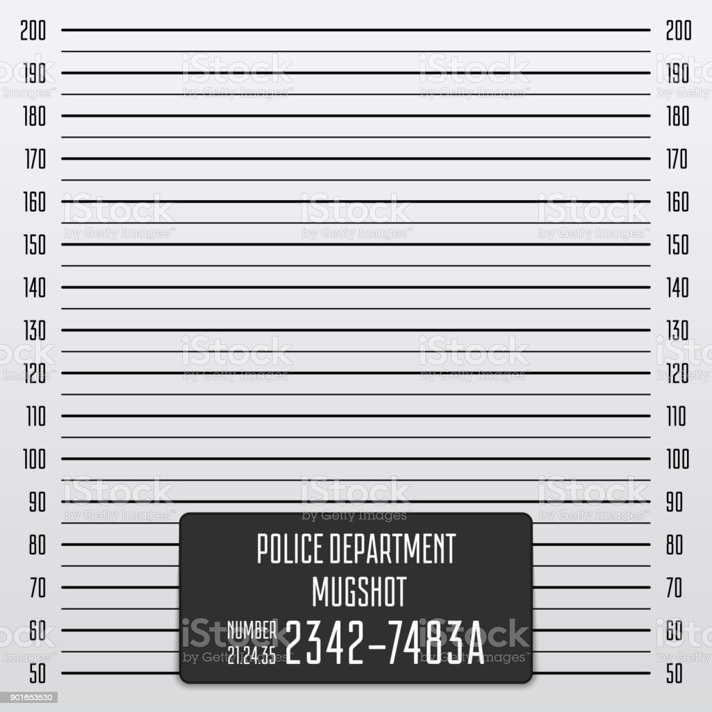Police mugshot background. vector art illustration