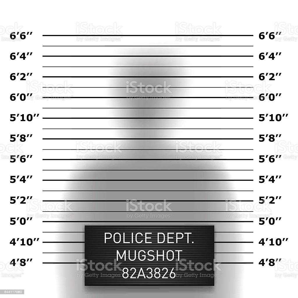 Police mugshot template vector art illustration