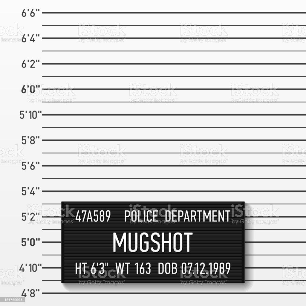 Police mugshot vector art illustration