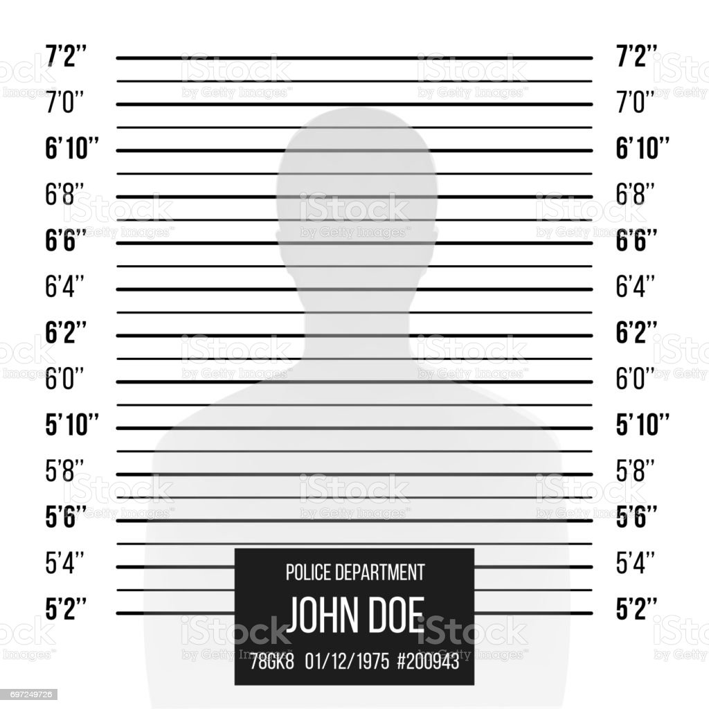 Police Mugshot Vector. Police Lineup Isolated On White Background Illustration vector art illustration