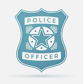 Police officer badge concept.
