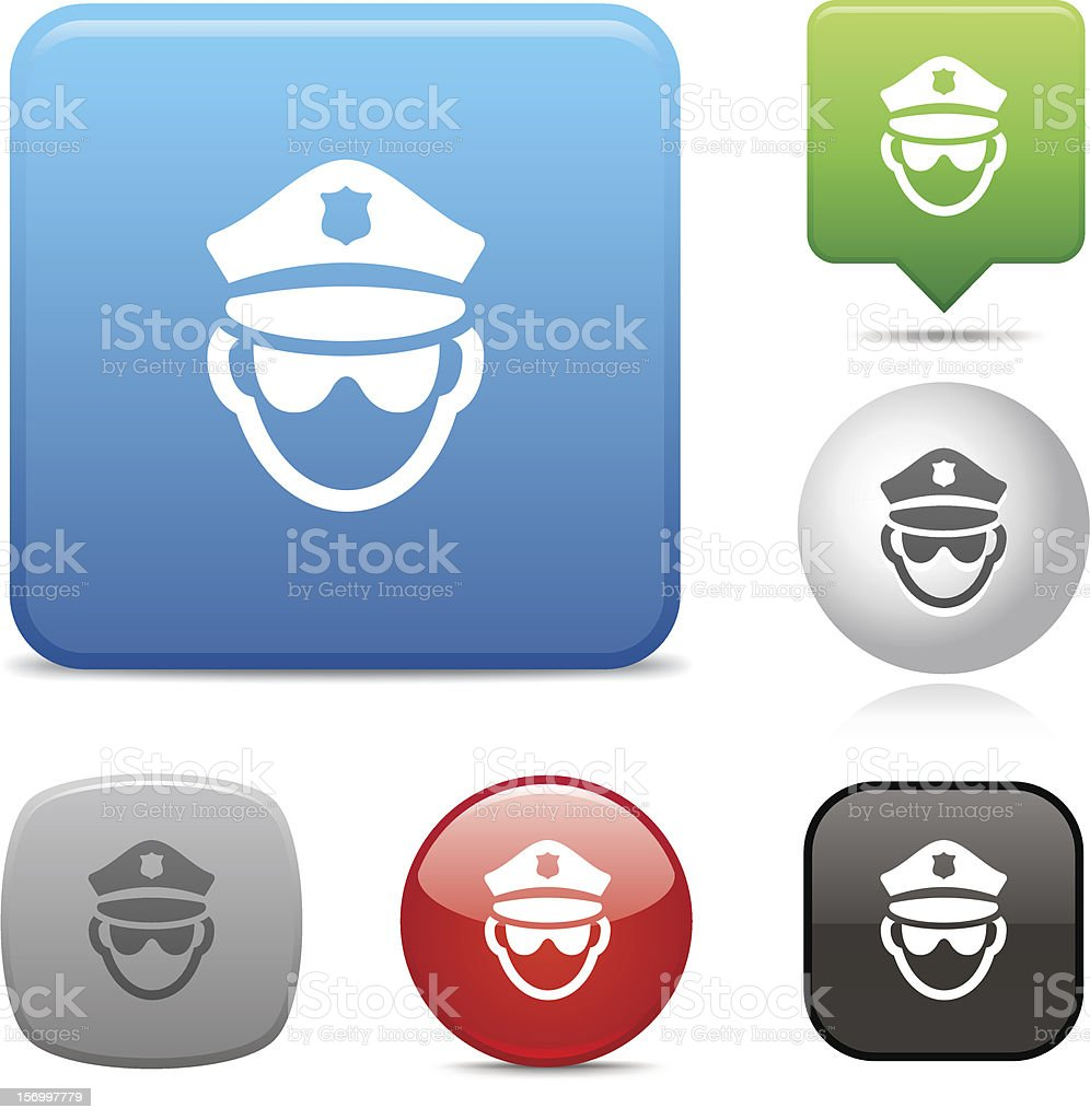 Police Officer icon vector art illustration