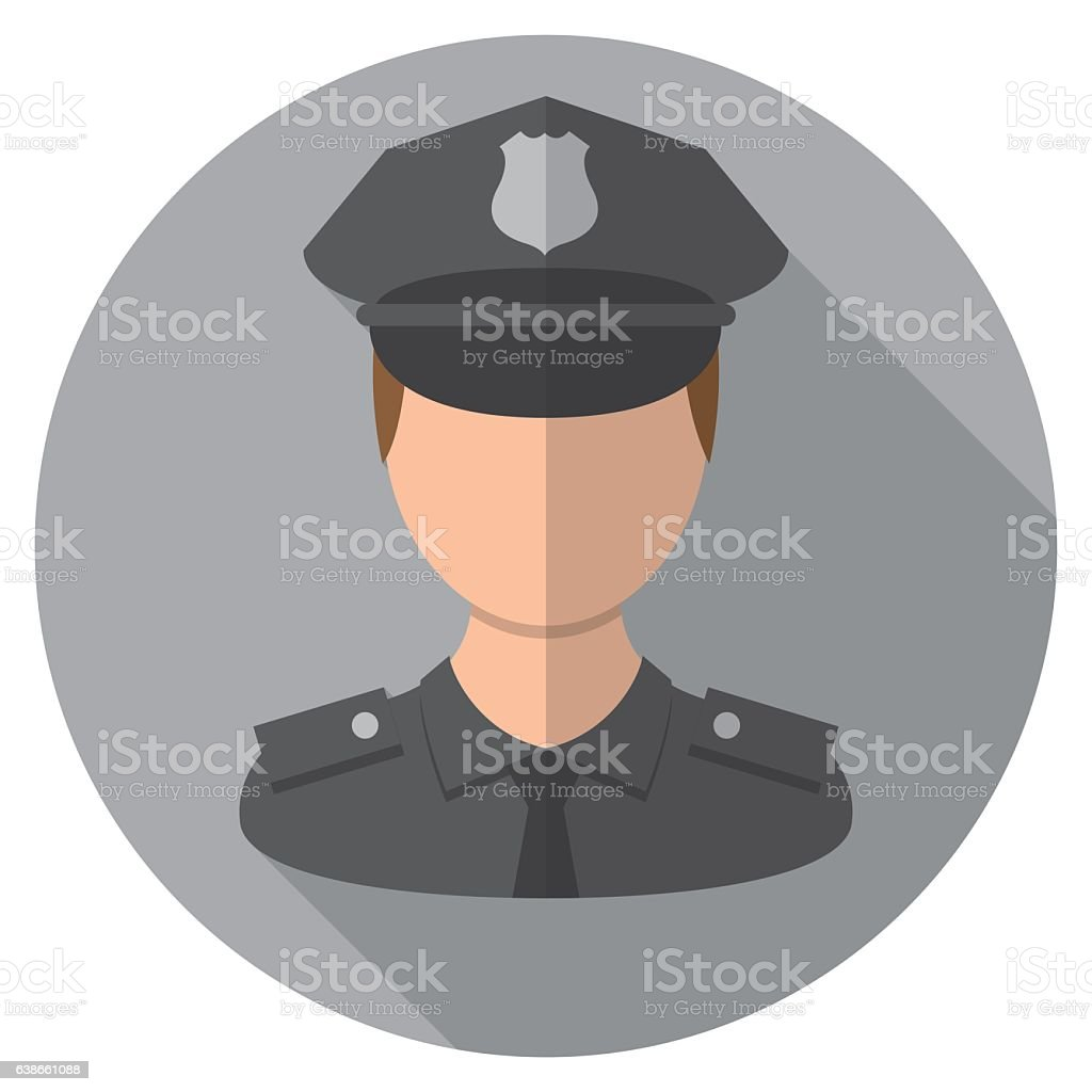 Police Officer Icon - Illustration vectorielle