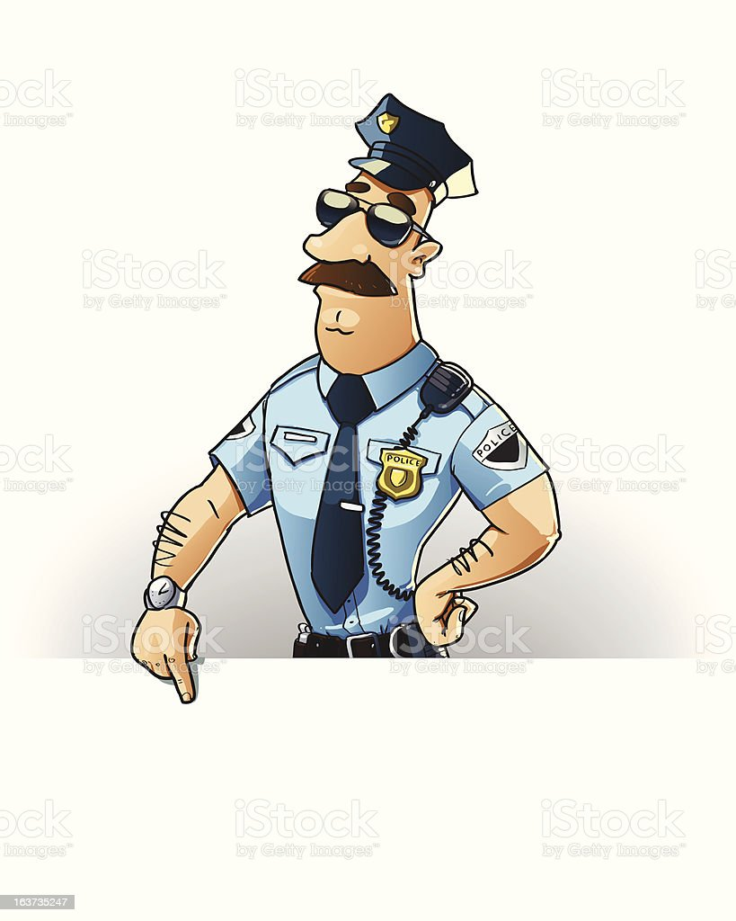 police officer showing blank signboard royalty-free police officer showing blank signboard stock vector art & more images of accidents and disasters