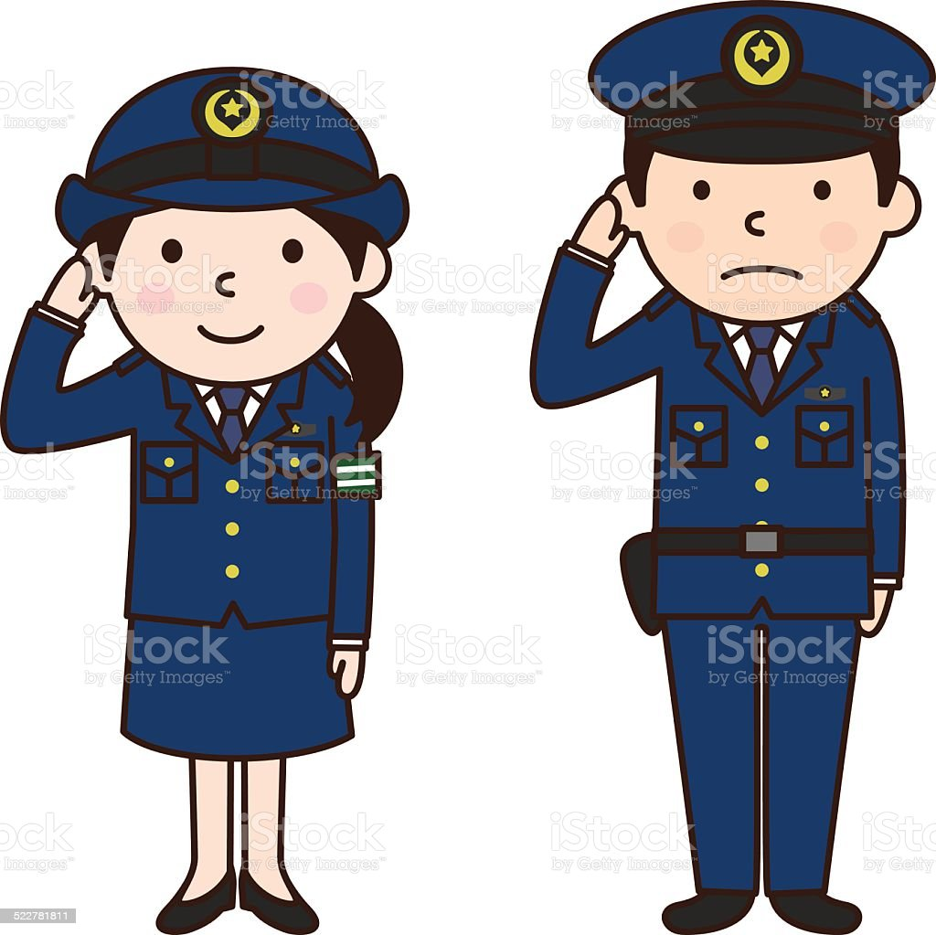 Police officer(警察官) vector art illustration