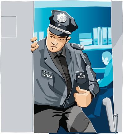 Polícia - Arte vetorial de stock e mais imagens de Adulto